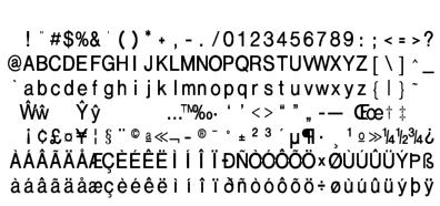 RISC OS FR - Polices de caractères / Fonts / Fuentes de